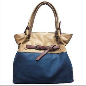 Sondra Roberts Belted Two-Tone Handbag,NWT